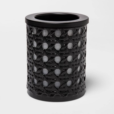 "5.7"" x 4.5"" Bamboo Lattice Pattern Electric Scent Warmer Black - Threshold™"