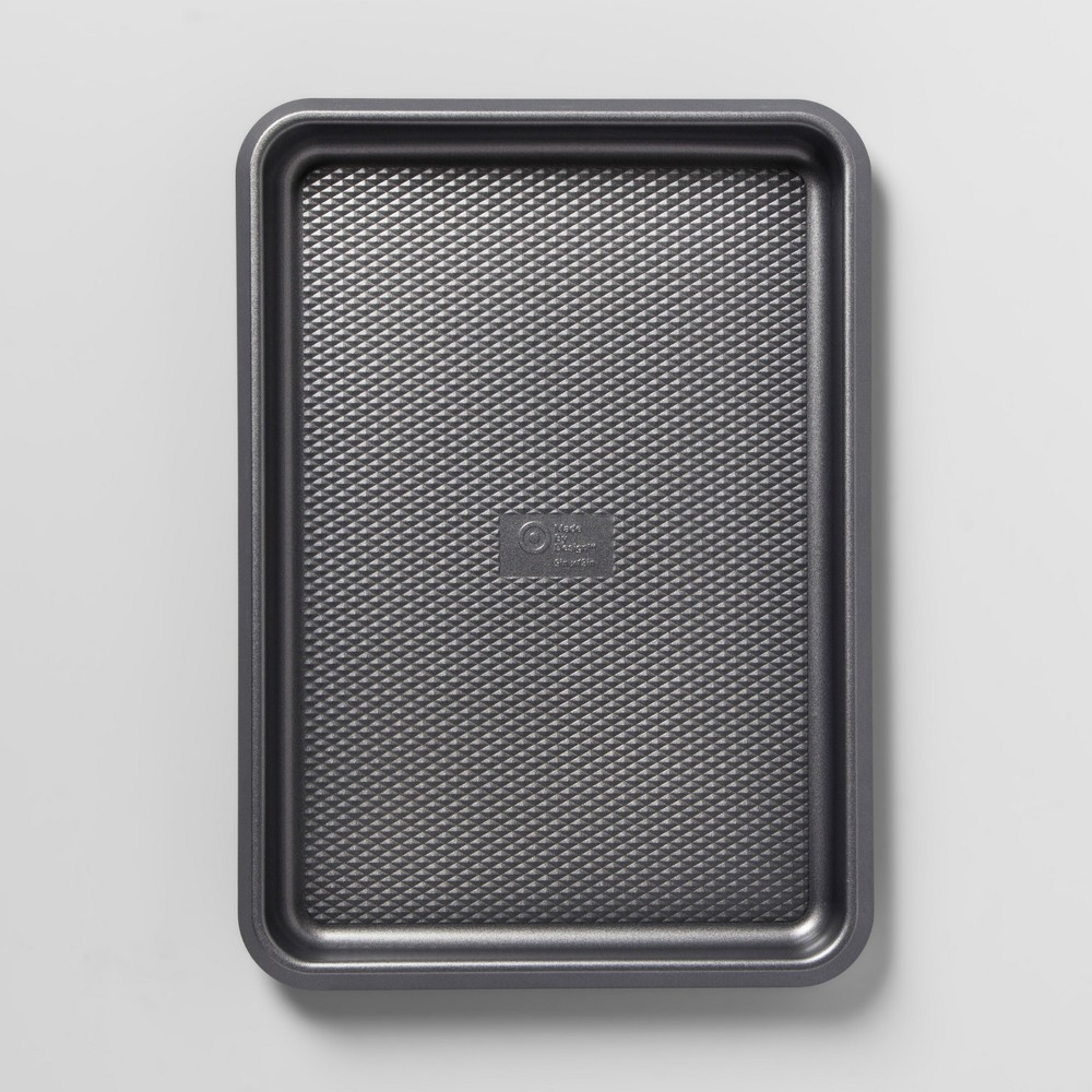 Aluminized Steel Non-Stick Cookie Sheet 9x13 Silver - Made By Design, Gray