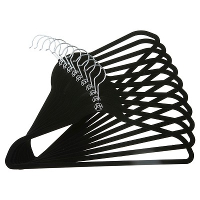 Huggable Hangers® 10-pk Suit Hangers - Black