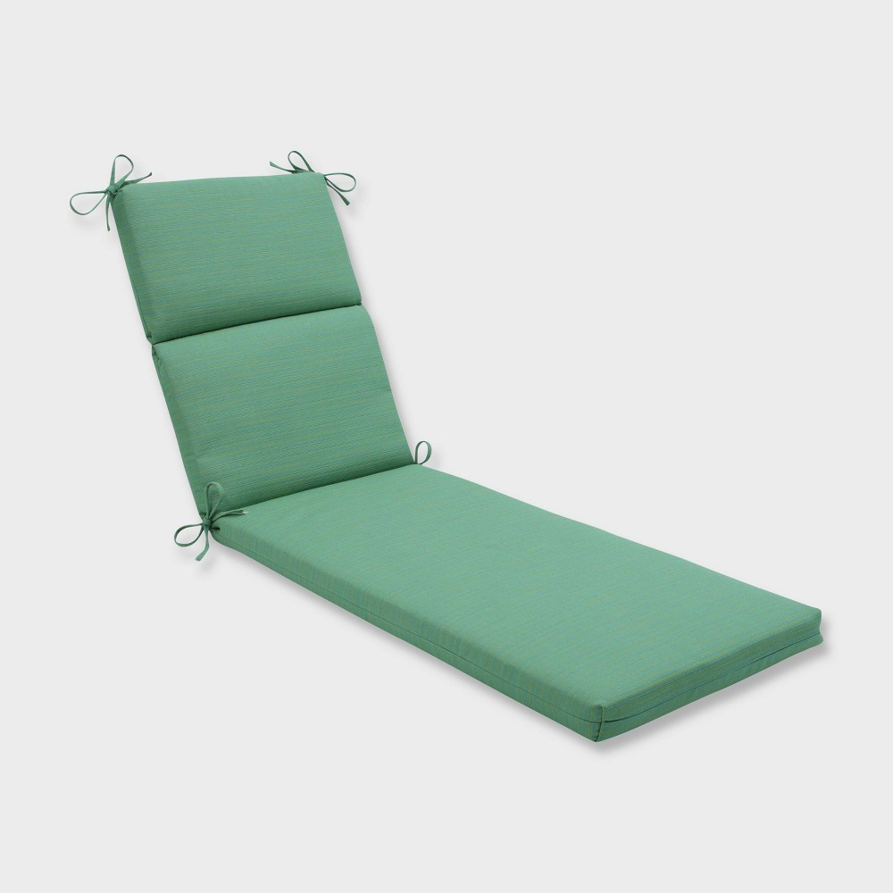 Dupione Paradise Chaise Lounge Outdoor Cushion Green - Pillow Perfect