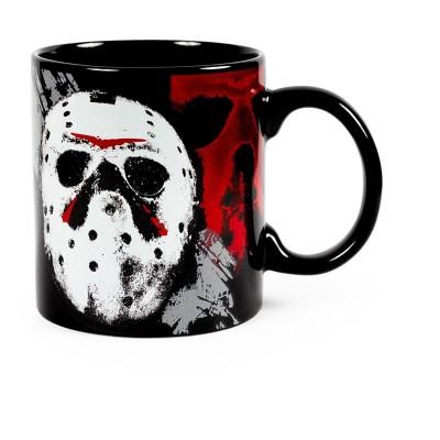 "Silver Buffalo Friday The 13th ""I Wish It Was Friday"" Ceramic Mug   Holds 20 Ounces"