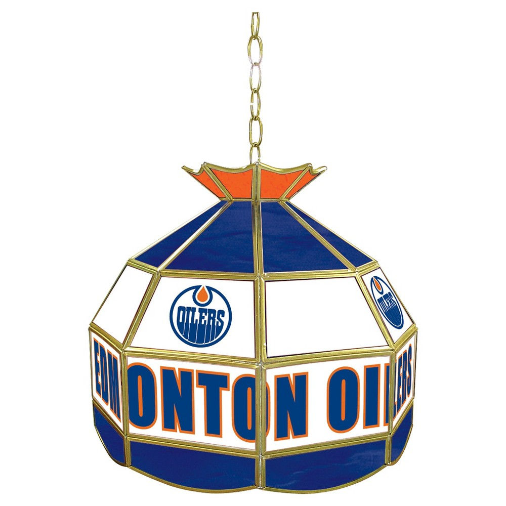 Edmonton Oilers Stained Glass Tiffany Lamp - 16 inch