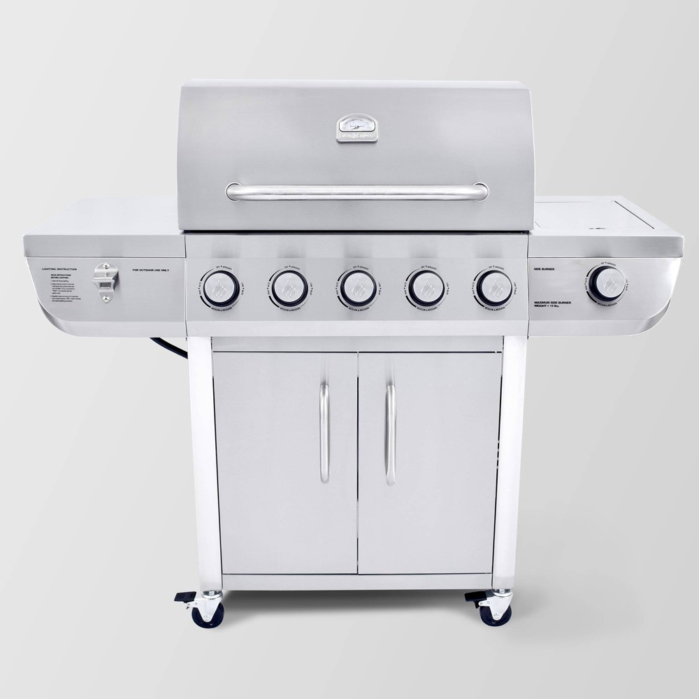 Image of Stainless Steel 5 Burner Gas Grill GAS8560AS Silver - 3 Embers