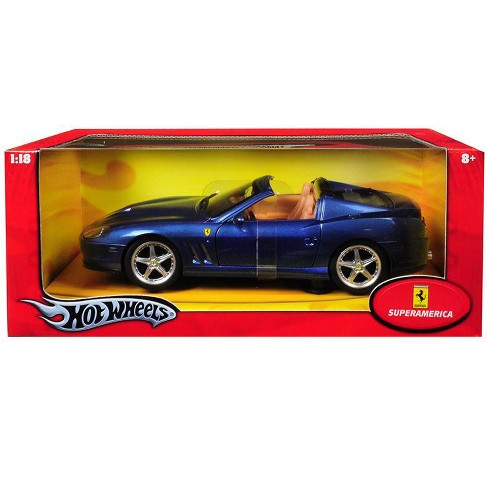 Ferrari Super America Blue 1/18 Diecast Model Car by Hotwheels - image 1 of 1