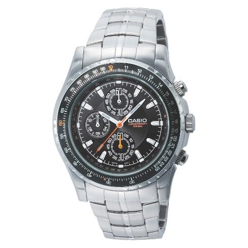 Men's Casio Analog Chronograph Aviator Watch - Silver (MTP4500D-1AV) - image 1 of 1