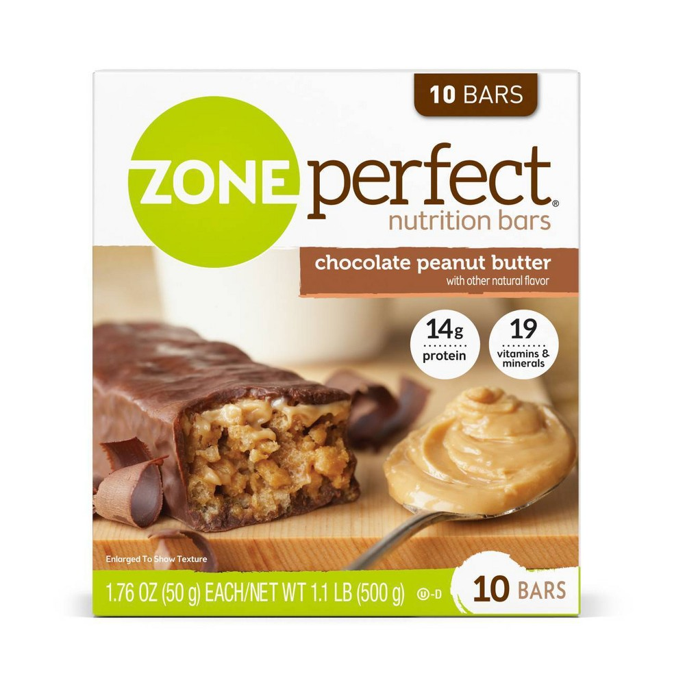 Zoneperfect Chocolate Peanut Butter Nutrition Bars - 10ct
