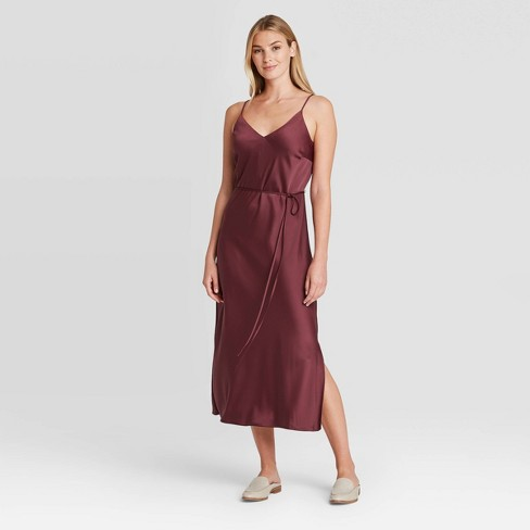 Women S Slip Dress Prologue Burgundy Target