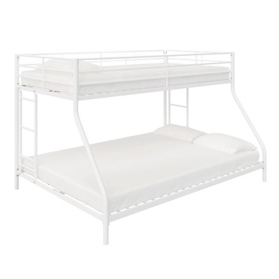 Twin Over Full Lily Small Space Kids' Bunk Bed White Metal - Room & Joy
