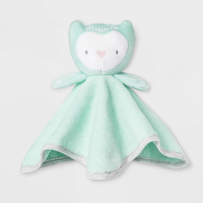 Baby Owl Washcloth - Cloud Island™ Mint Green One Size - image 1 of 1