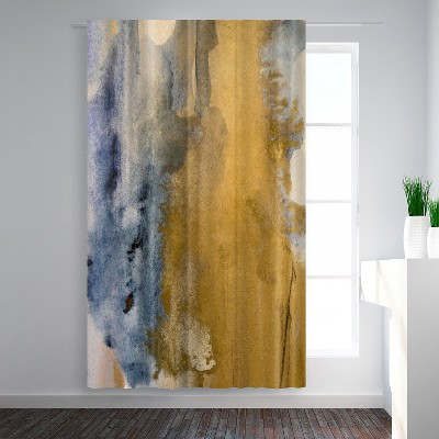 Americanflat Gold Dust I by Hope Bainbridge Blackout Rod Pocket Single Curtain Panel 50x84