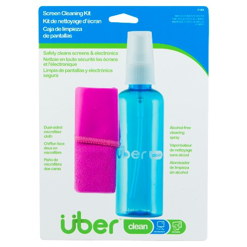 Uber Screen Cleaning Kit 100ml with Dual Micro Fiber Cleaning Cloth - image 1 of 1