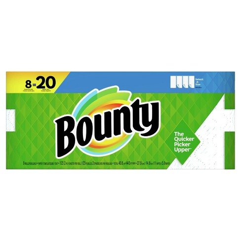 Bounty Select A Size Paper Towels 8 Double Plus Rolls Target
