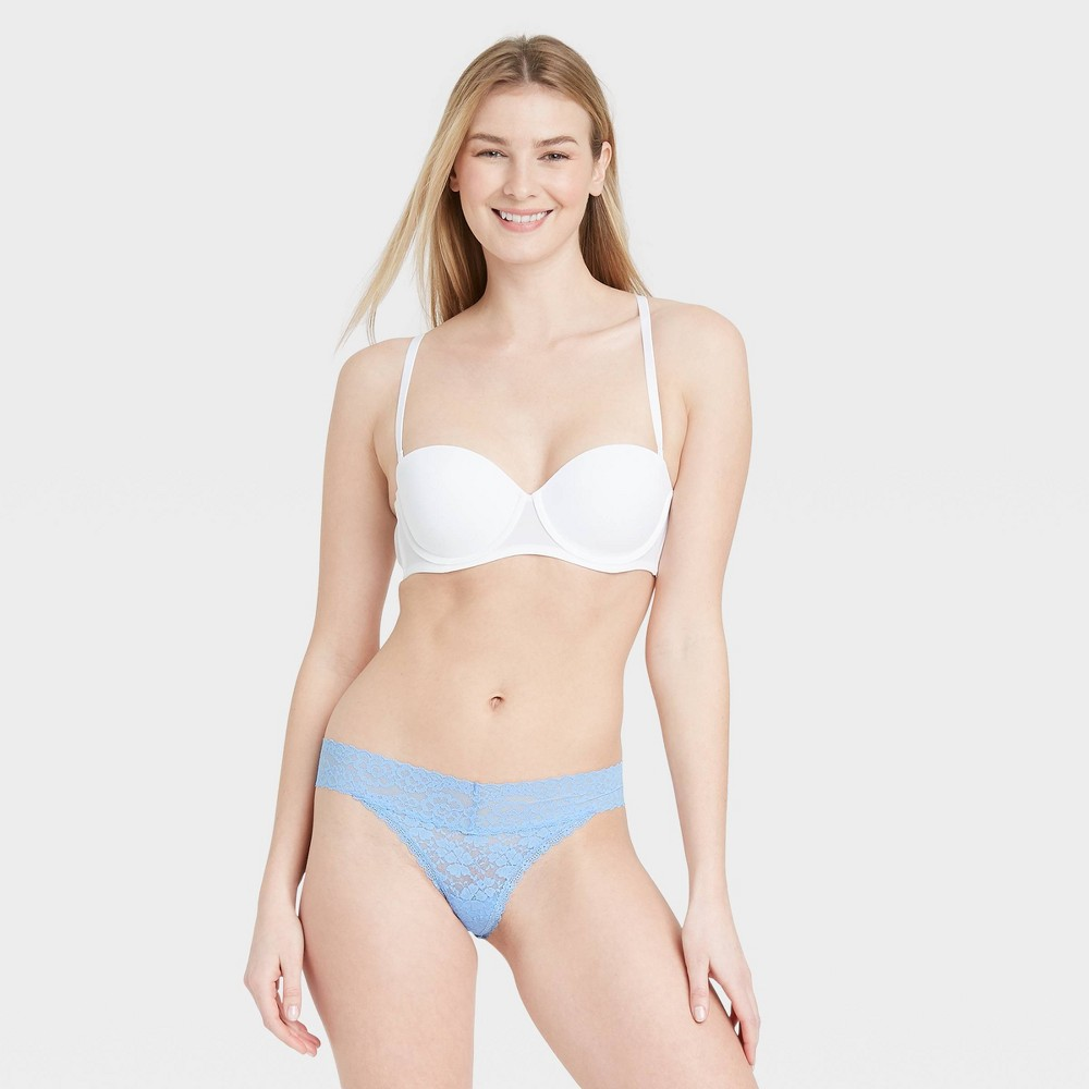 Women 39 S All Over Lace Thong Auden 8482 Blue S