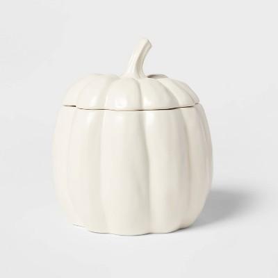 97.7oz Stoneware Pumpkin Tureen Serving Dish White - Threshold™