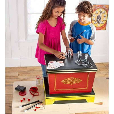 HearthSong - 300-Trick Ultimate Legends of Magic Kit with Illusion Box and Props for Kids Imaginative Magical Play