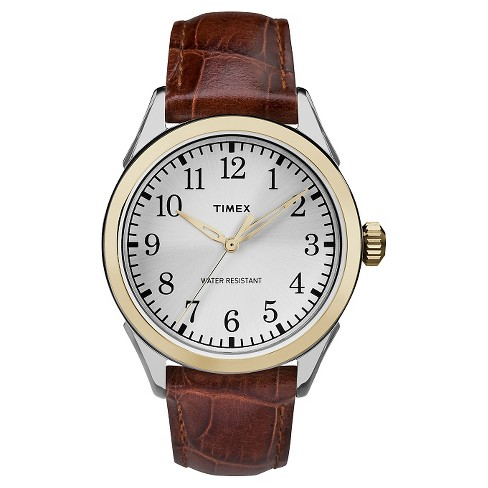 Men's Timex Watch with Leather Strap - Two Tone/Brown TW2P99500JT - image 1 of 1