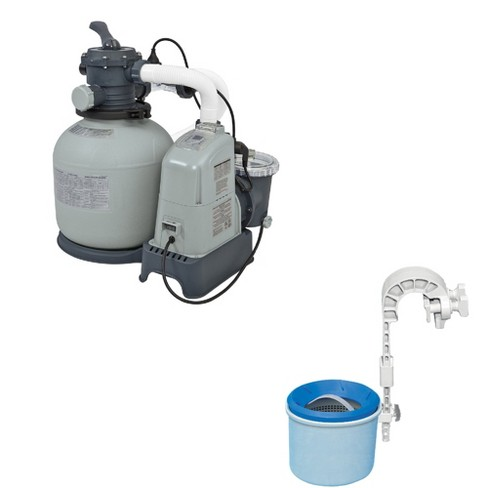 Intex 1600 GPH Saltwater & Sand Filter Set & Intex Deluxe Wall-Mounted Skimmer - image 1 of 4