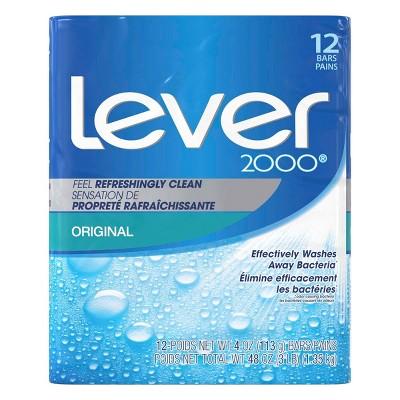 Lever 2000 Original Scent Bar Soap - 12pk - 4oz each