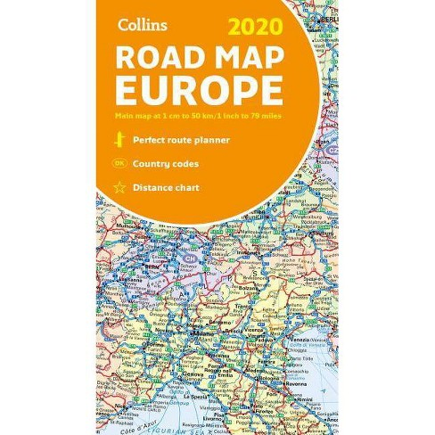 Collins 2020 Road Map Europe - (Paperback)