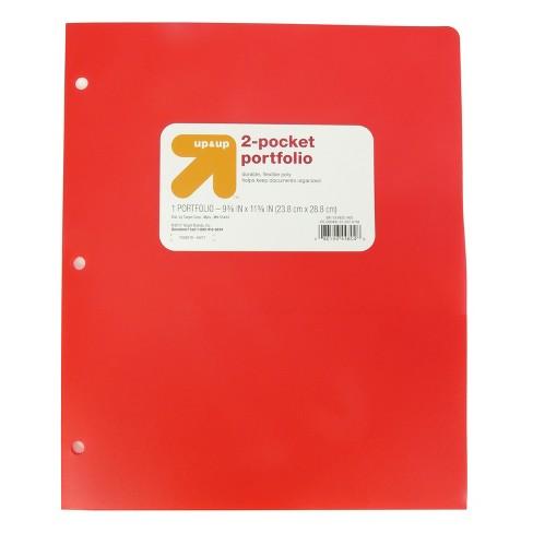 2 Pocket Plastic Folder - up & up™ - image 1 of 3