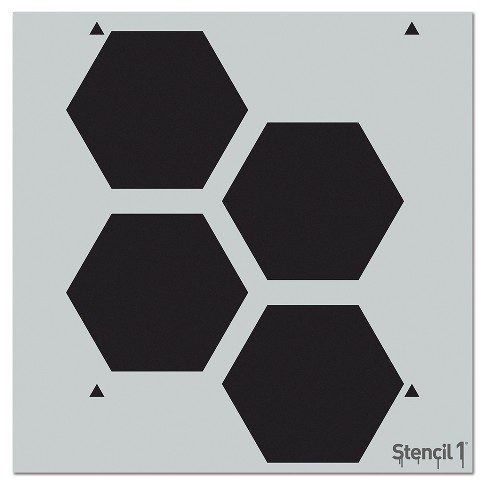 "Stencil1 Hexagon Repeating - Wall Stencil 11"" x 11"" - image 1 of 3"