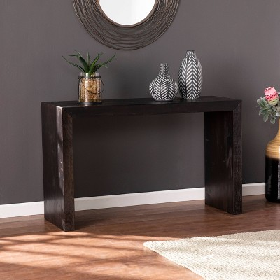 Hamfrith Reclaimed Wood Console Table Black - Aiden Lane