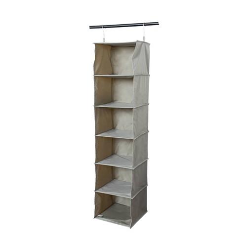 6 Shelf Hanging Closet Organizer Gray - Room Essentials™ - image 1 of 3