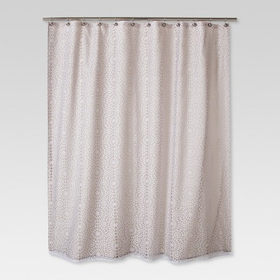 Geometric Burnout Shower Curtain Tan - Threshold™