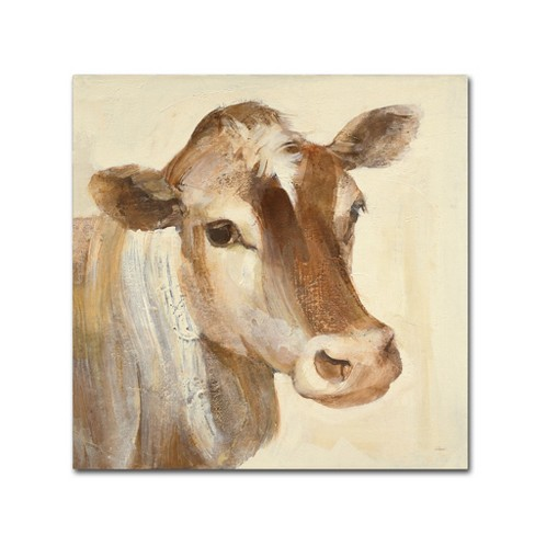 "14"" x 14"" Albena Hristova 'Looking at You I' Unframed Wall Canvas - Trademark Fine Art - image 1 of 3"