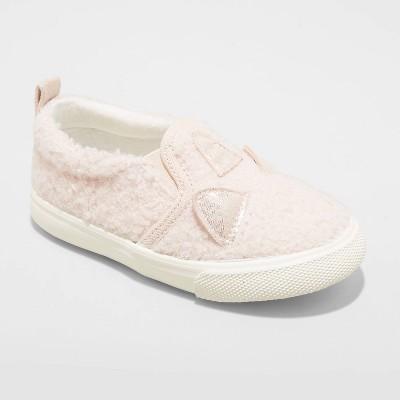 Toddler Girls' Navia Slip-On Apparel Sneakers - Cat & Jack™ Blush