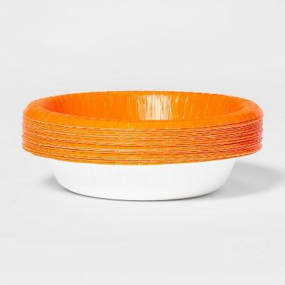20ct Orange Disposable Halloween Bowls - Hyde & EEK! Boutique™