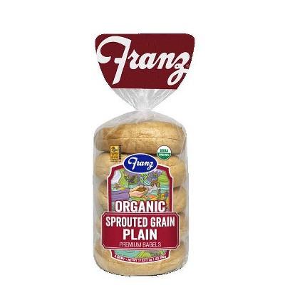 Franz Organic Sprouted Grain Plain Bagels - 17oz/5ct