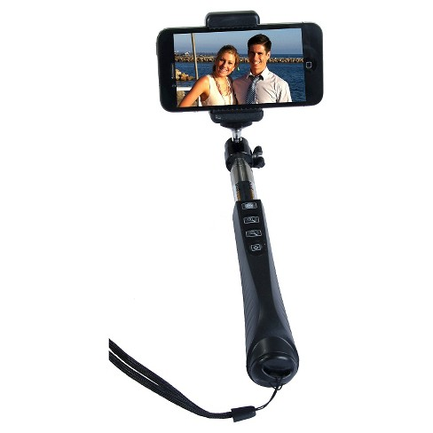 Zuma Selfie Stick Kit w-Tripod Stand and Removable Blutooth Handle - Black (Z-140B) - image 1 of 5