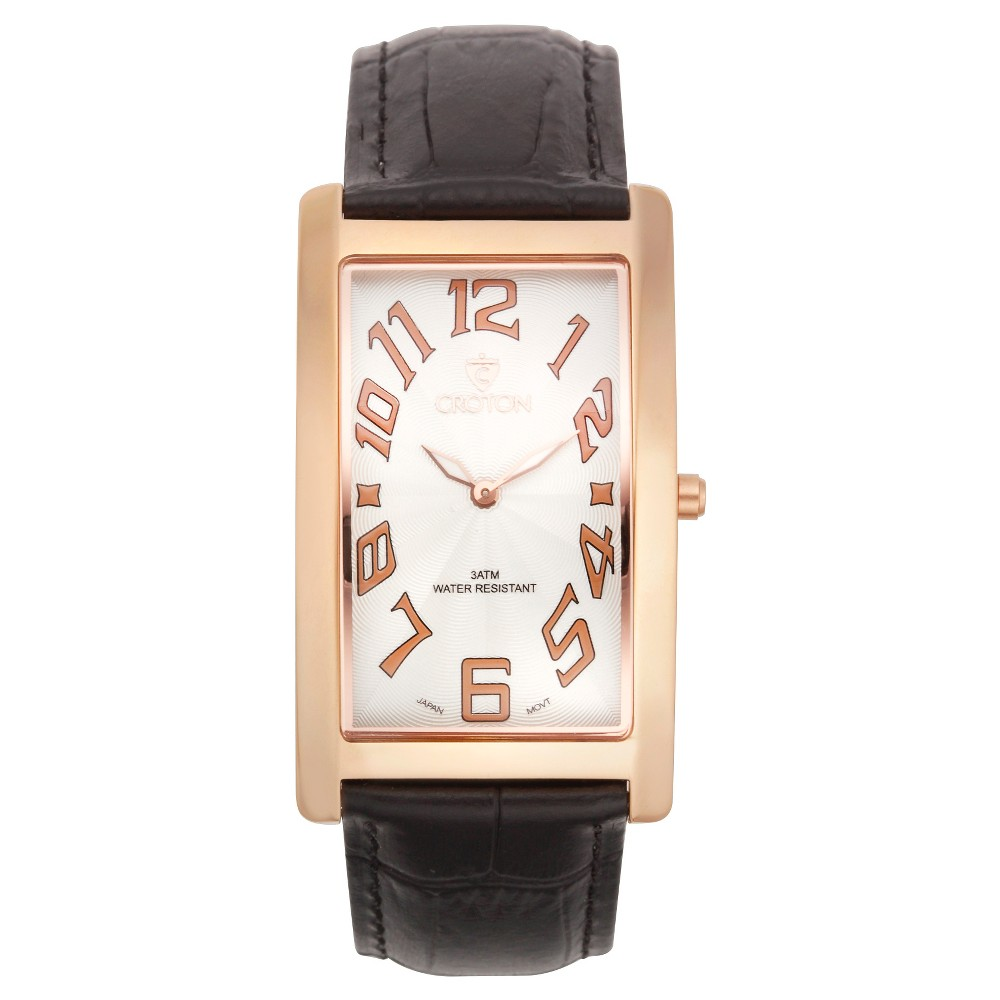 Men's Croton Analog Watch - Rosetone White Dial