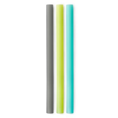 """GoSili 8.5"""" 3pk Silicone Reusable Straws"""
