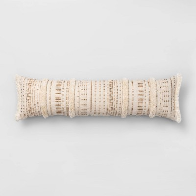 Corded And Tufted Oversize Lumbar Throw Pillow Neutral - Opalhouse™