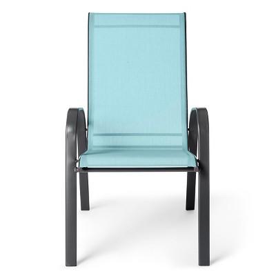 sling stacking patio chair threshold target rh target com Stackable Patio Sling Chairs Red Stackable Patio Sling Back Chairs