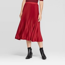 Women's Relaxed Fit High-Rise Pleated Skirt - A New Day™