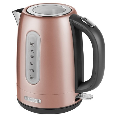 Sencor Metallic 1.7L Stainless Steel Electric Kettle - Rose