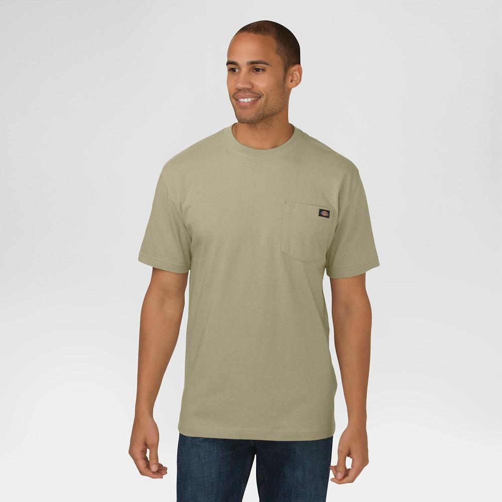 Dickies Men's Big & Tall Cotton Heavyweight Short Sleeve Pocket T-Shirt- Desert Sand Xxl Tall