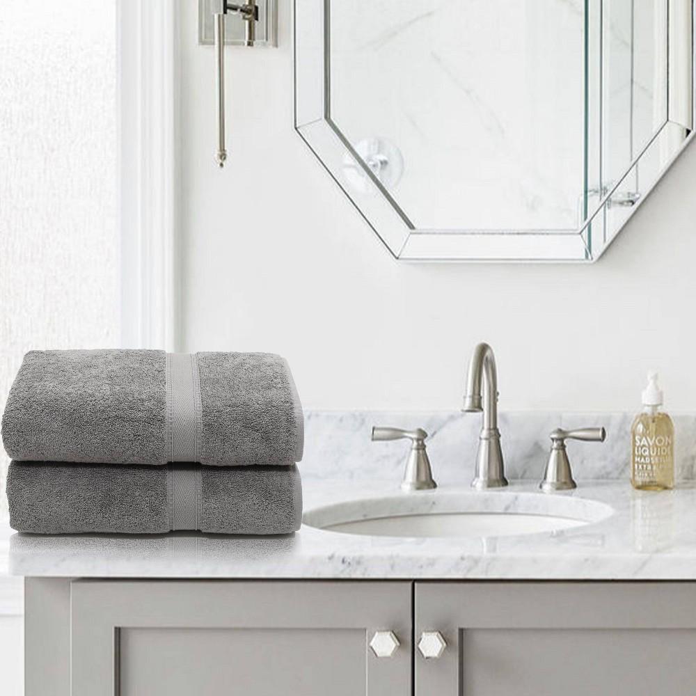 2pk Sinemis Turkish Bath Towel Collection Dark Gray Linum Home Textiles
