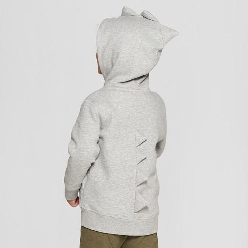 08b0d0da461d Toddler Boys  Dinosaur Costume Zip-Up Hoodie - Cat   Jack™ Gray 5T ...