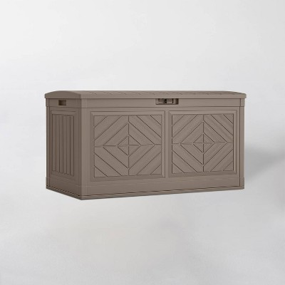 80gal Resin Deck Box Dark Taupe - Suncast
