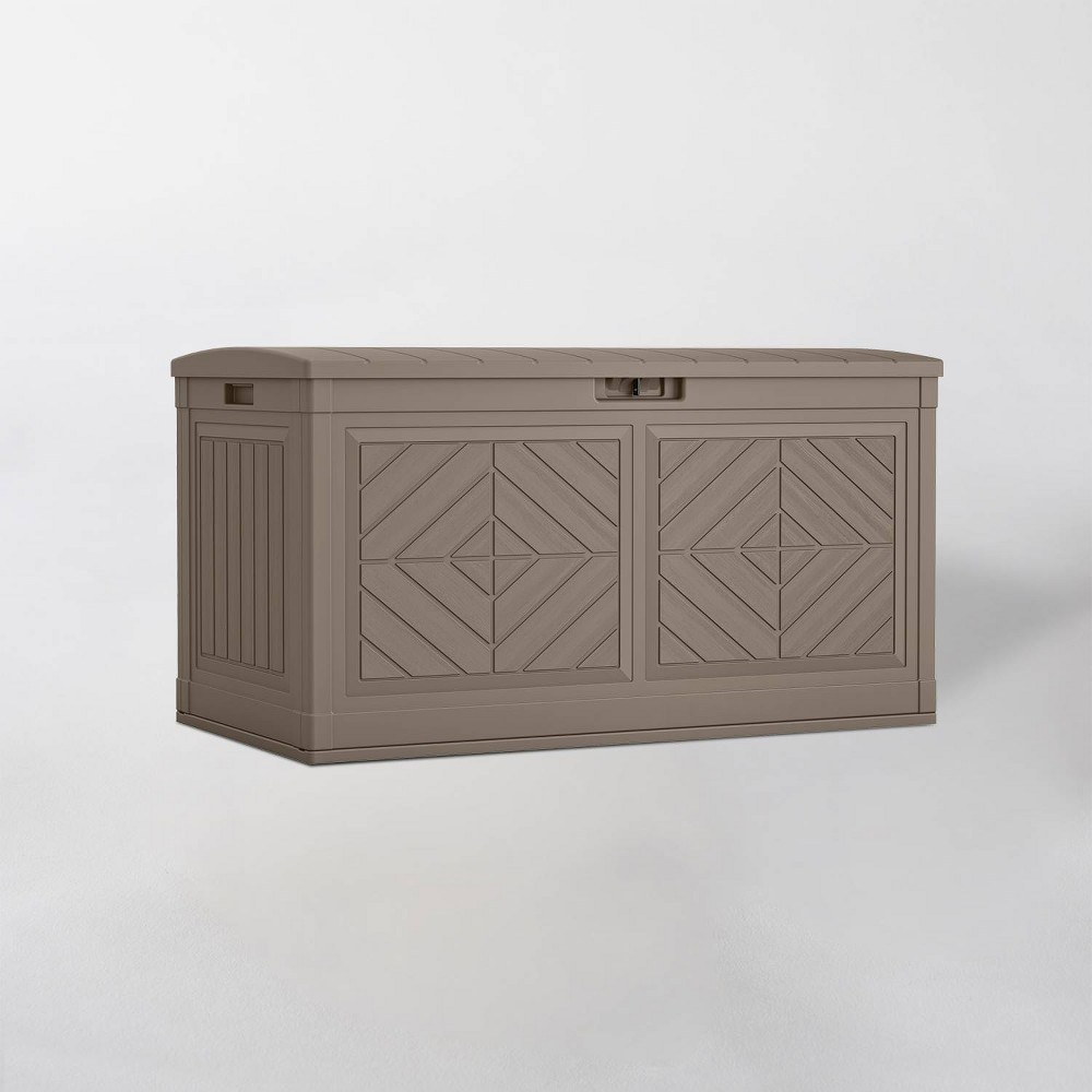 Image of 80gal Resin Deck Box Dark Taupe - Suncast