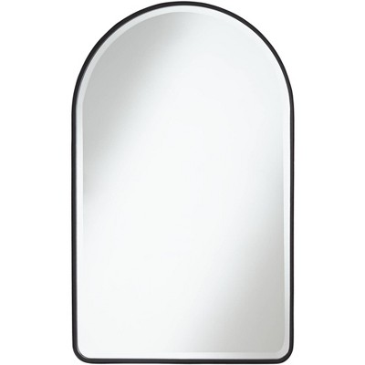"Uttermost Clara Matte Black 24"" x 39"" Arch Top Mirror"