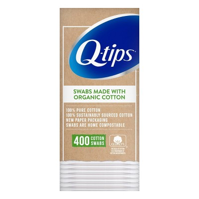 Q-Tips Cotton Swabs Organic Pack - 400ct