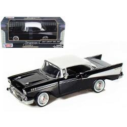 1957 Chevrolet Bel Air Black 1/24 Diecast Car Model by Motormax