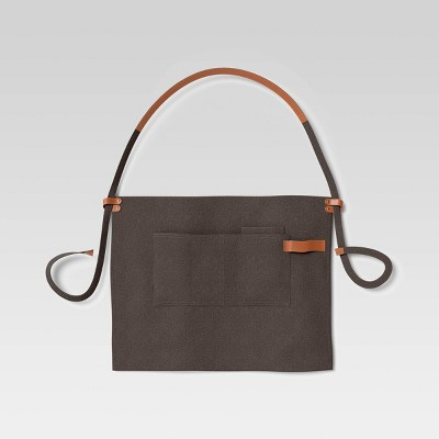 Half Apron Waxed Canvas with Leather Gray - Hilton Carter for Target