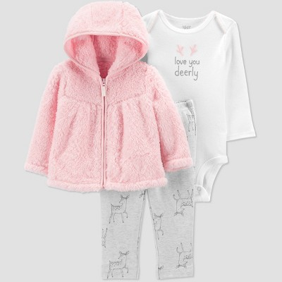 Baby Girls' Deer Top & Bottom Set - Just One You® made by carter's Pink Newborn