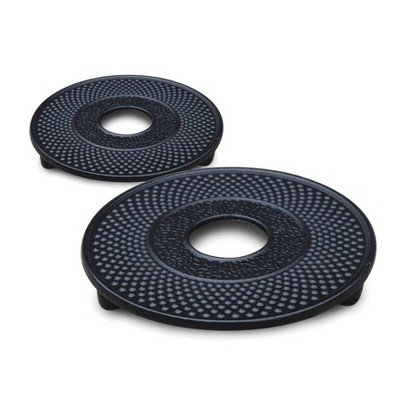"Old Dutch 5.3"" 2pk Metal Trivets Black"